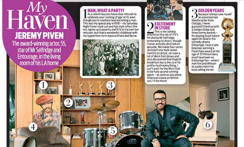 Jeremy Piven – Daily Mail Weekend