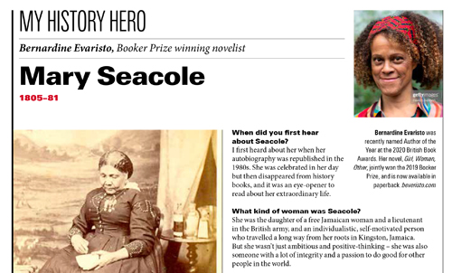 Bernardine Evaristo – BBC History Magazine