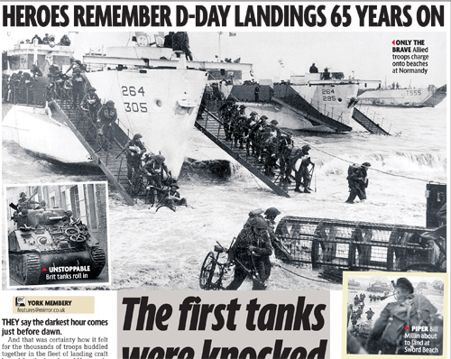 Heroes Remember D-Day Landings 65 Years On – DAILY MIRROR