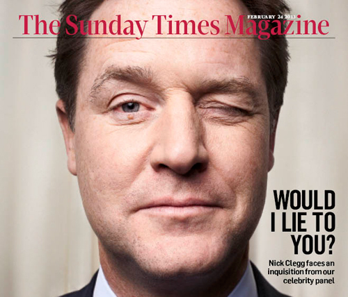 Nick Clegg – SUNDAY TIMES MAGAZINE