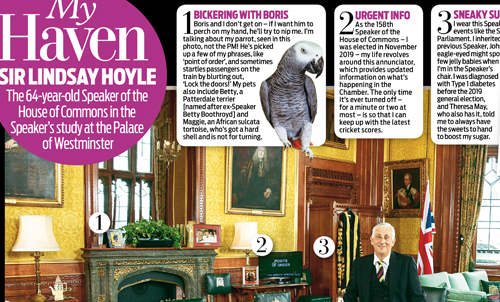 Lindsay Hoyle – Daily Mail Weekend