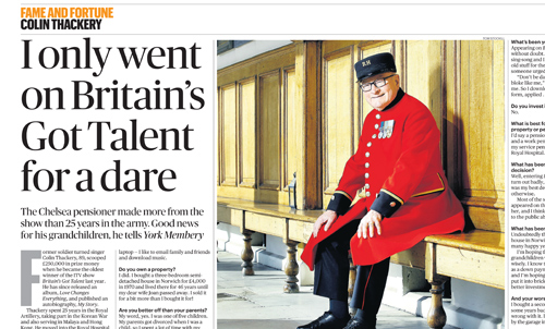 Colin Thackery – Sunday Times