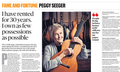 Peggy Seeger- Sunday Times